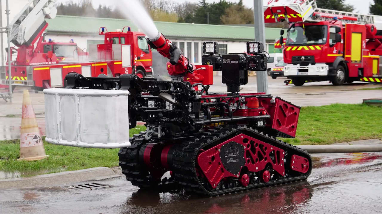 Spider Fire Extinguisher Robot